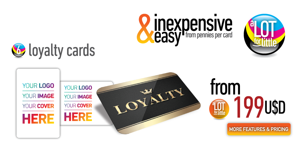 Loyalty cards - from U$S199