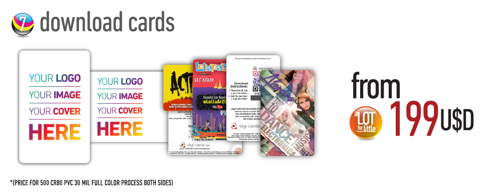 Download cards - from U$S199